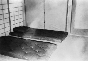 Dugway Proving Ground, German and Japanese Village, Japanese home interior, 27 May 1943. ダグウェイ実験場。