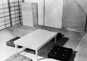 Dugway Proving Ground, German and Japanese Village, Japanese home interior2, 27 May 1943. ダグウェイ実験場。