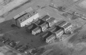 Dugway Proving Ground, aerial view3, 1947. ダグウェイ実験場。