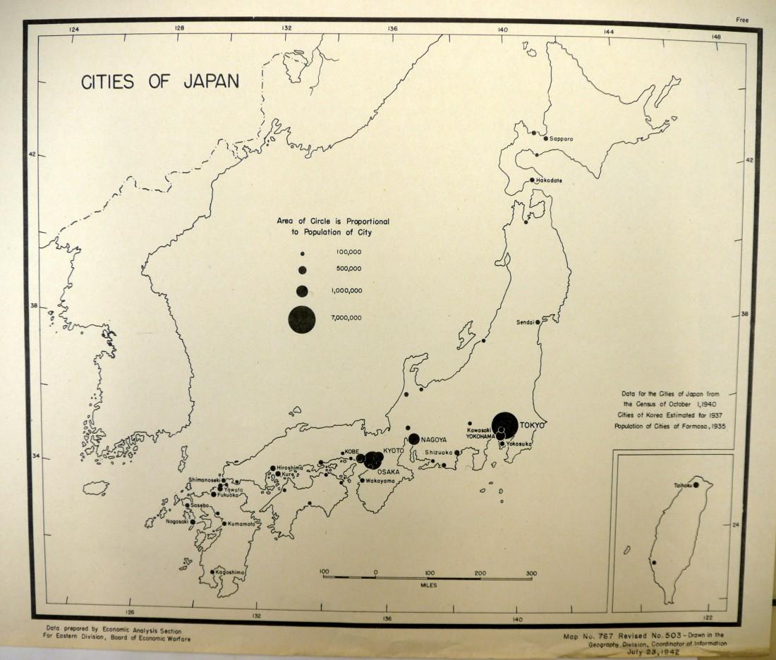 戦略諜報局地図 – OSS Maps | Japan Air Raids.org on